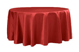 """Red – Round - Tablecloth - Lamour – 120"""""""