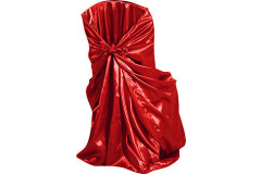 Red - Chair Cover Universal - Satin