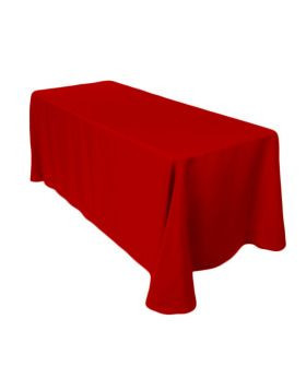 "Red – Rectangle Tablecloth - Poly- 90""x156"""
