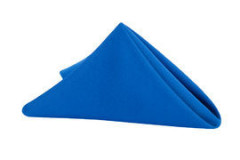"Royal Blue - Napkin – Poly – 20""x20"""
