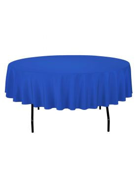 Royal Blue - Round Tablecloth – Poly – 90""
