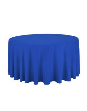 """Royal Blue - Round Tablecloth – Poly – 120"""""""