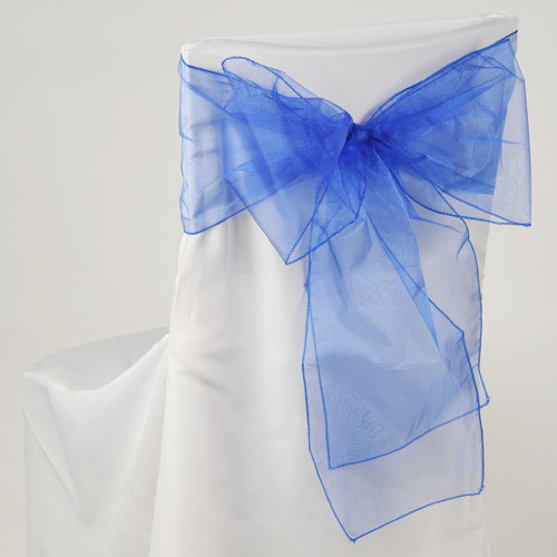 Royal Blue – Chair Sash - Organza