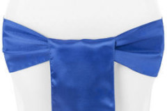 Royal Blue – Chair Sash - Satin