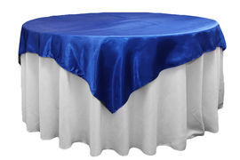 "Royal Blue – Overlay - Satin – 72""x72"""