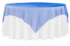 "Royal Blue – Overlay – Organza – 72""x72"""
