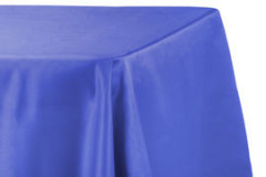 "Royal Blue – Rectangle - Tablecloth – Satin – 90""x156"""