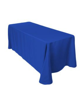 "Royal Blue – Rectangle Tablecloth - Poly- 90""x156"""