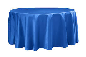Royal Blue – Round - Tablecloth - Lamour – 120""