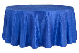 Royal Blue – Round - Tablecloth – Pintuck - 120""