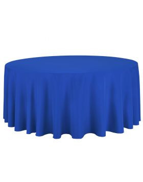 Royal Blue - Round Tablecloth – Poly - 132""