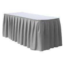 Silver -Table Skirt – Poly - 17'