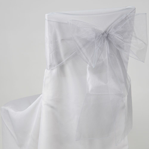 Silver – Chair Sash - Organza
