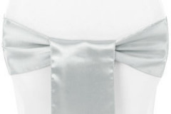 Silver - Chair Sash - Satin