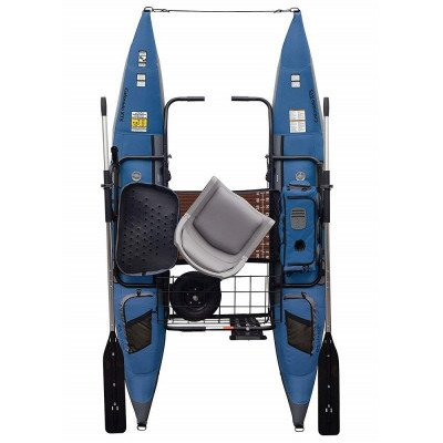inflatable fishing pontoon boat picture 2