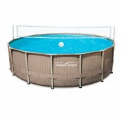 pool steel frame volleyball net