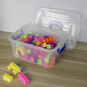 plastic ultra latch storage box with seal