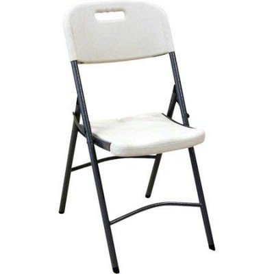 white plastic indoor outdoor folding chair