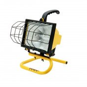 portable work light in yellow