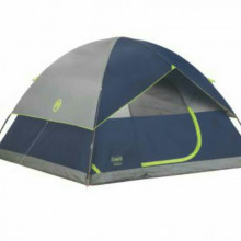 6 person tent and 4 sleeping bags