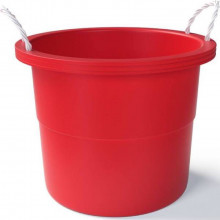 Rope Handle Bucket in Red, 67 L