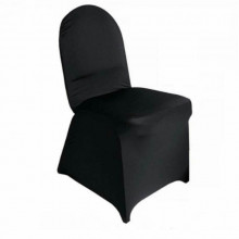 Black - chair cover - spandex