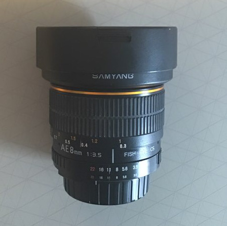Samyang - AE 8mm fish-eye for Nikon