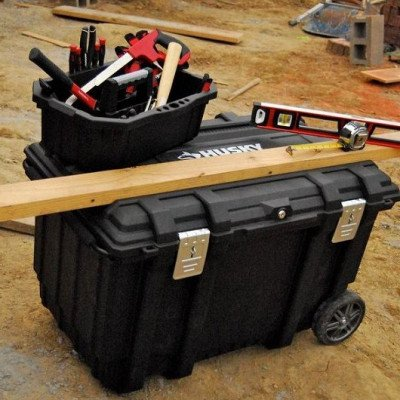 mobile job box utility cart black picture 3
