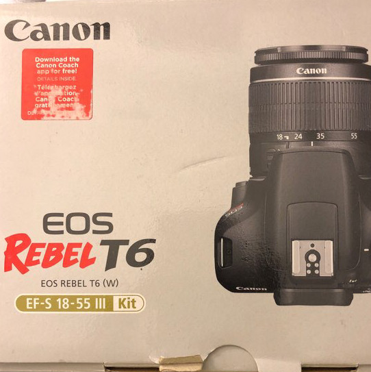 Canon Camera - Rebel T6
