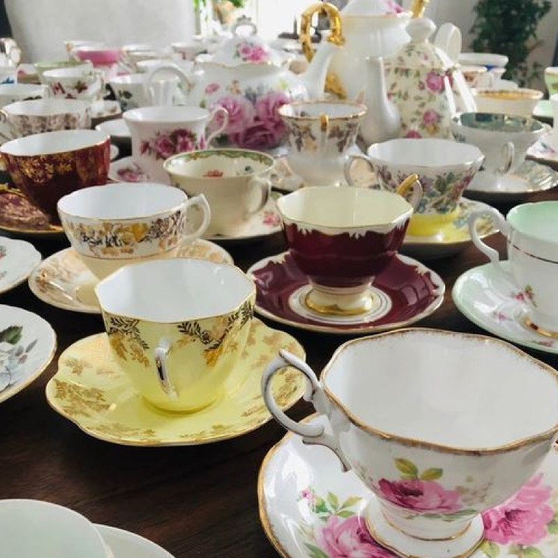 Fine china tea party set of 12