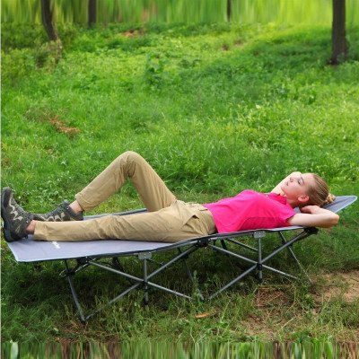 deluxe portable camping cot picture 1