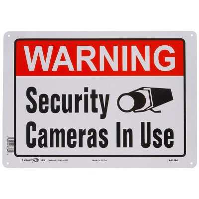 Warning Security Camera In Use sign picture 1
