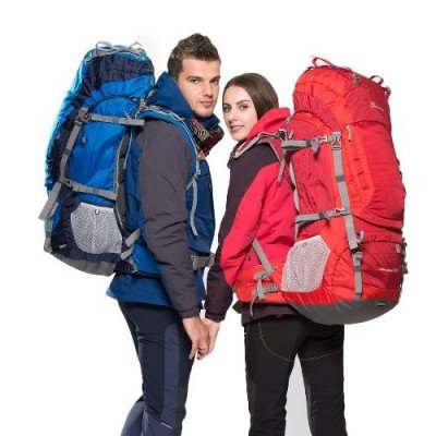 55l hiking backpack with rain cover picture 1