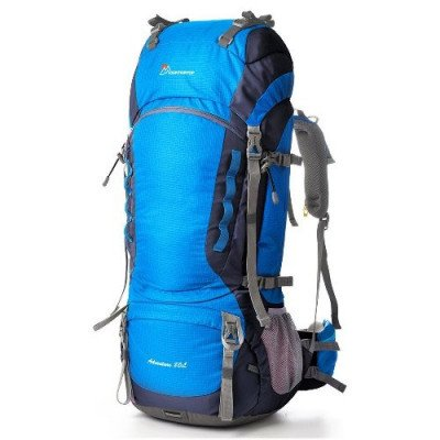 55l hiking backpack with rain cover picture 2