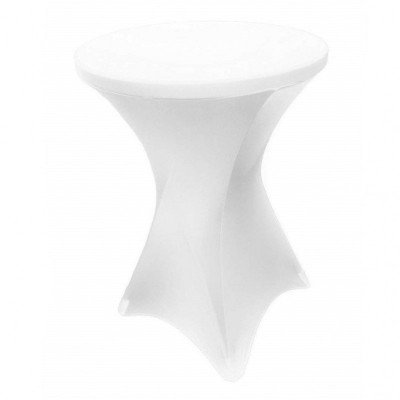 Spandex Cocktail Table Cover - white picture 1