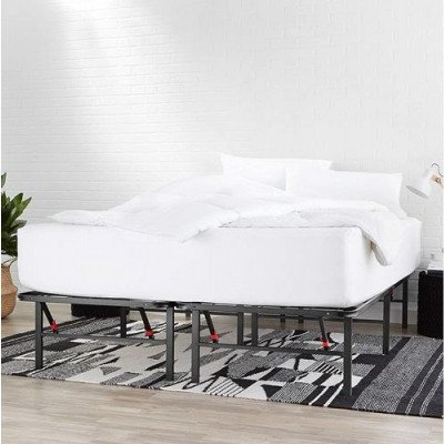basic queen bed frame picture 1