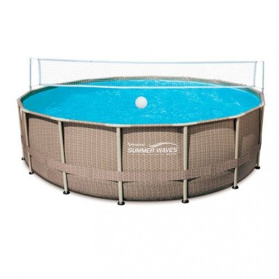 pool steel frame volleyball net picture 1