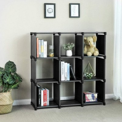 open bookshelf closet organizer rack cabinet picture 1