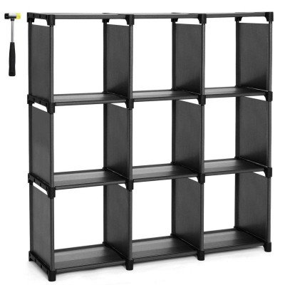 open bookshelf closet organizer rack cabinet picture 2
