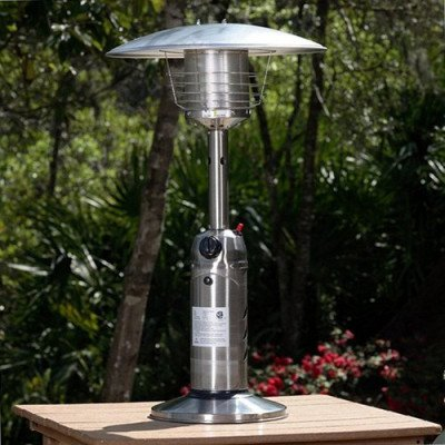 portable tabletop stainless steel patio heater picture 2