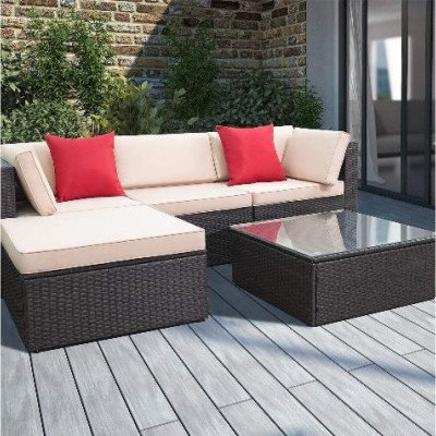 5 piece patio furniture set all weather picture 2