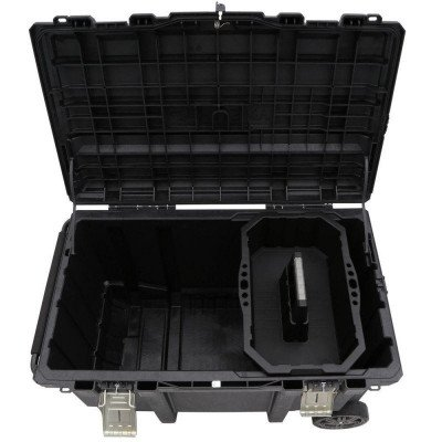 mobile job box utility cart black picture 2