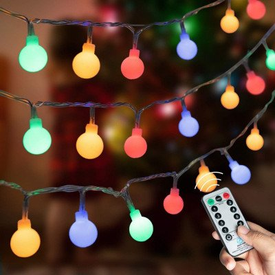 colored globe string lights picture 1