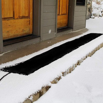 residential snow melting heated walkway mat picture 2