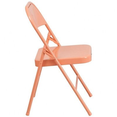 Metal Folding Chair - Coral picture 2