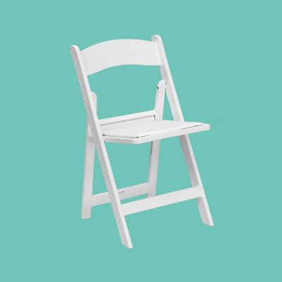 White Resin Folding Chair picture 1