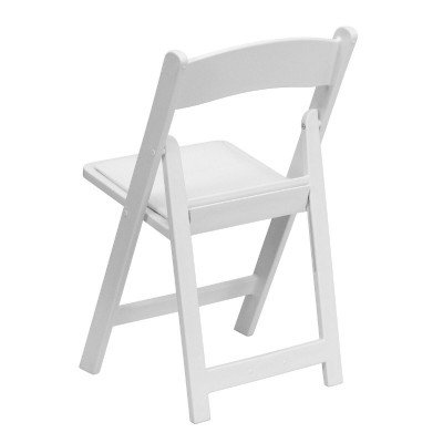 White Resin Folding Chair picture 2