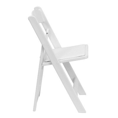 White Resin Folding Chair picture 3