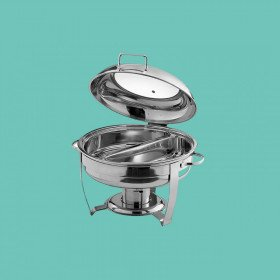 Chafing Dish - 6Q Stainless Steel Divided