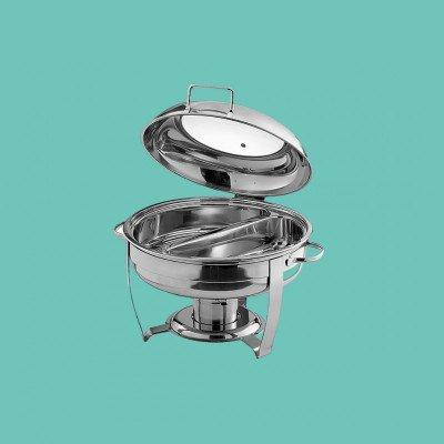 Chafing Dish - 6Q Stainless Steel Divided picture 1